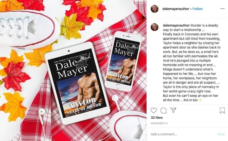 Dale Mayer's audiobook instagram promotion