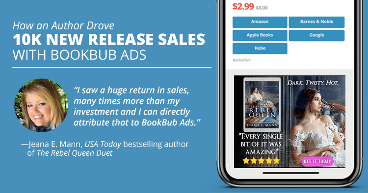 How an Author Drove 10K New Release Sales With BookBub Ads