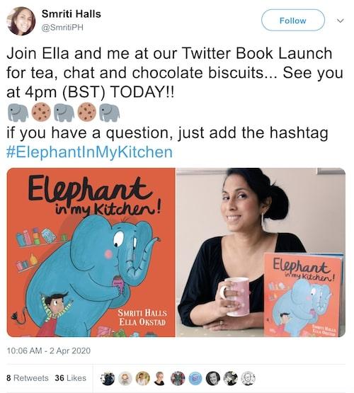 Smriti Prasadam-Halls and Ella Okstad Twitter chat to promote a book