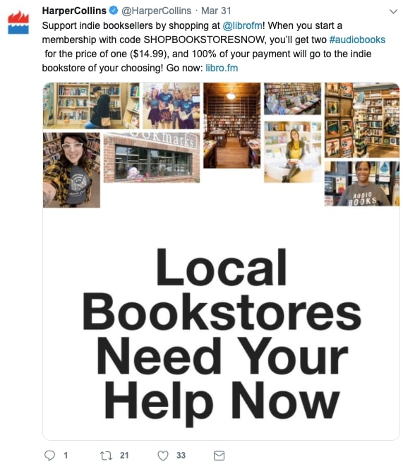 HarperCollins Support your Bookstore