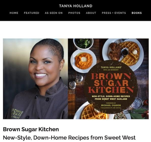 Cookbook Website Bookpage