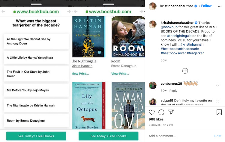 Author Boosting a BookBub Blog Mention