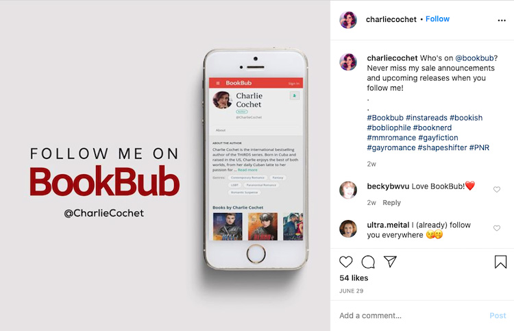 Asking Fans to Follow BookBub Page