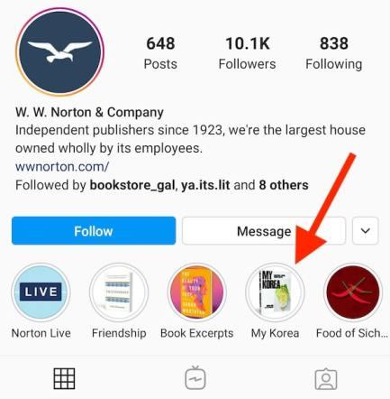 Cookbook Instagram Story Highlight