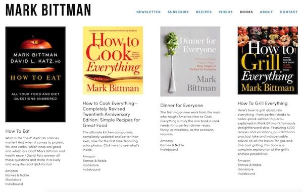 Cookbook Book Page
