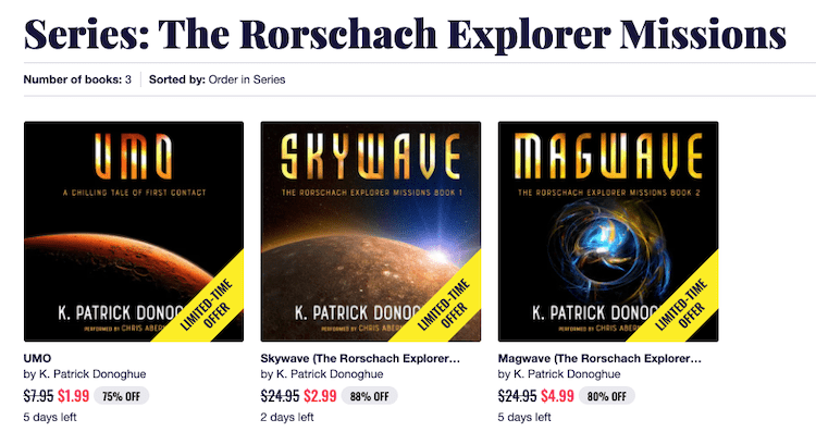Audiobook Series With Prices