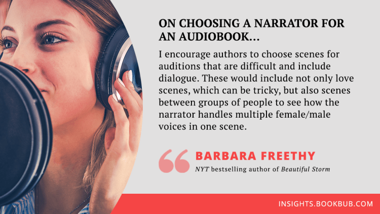 Audiobook publishing tip from Barbara Freethy