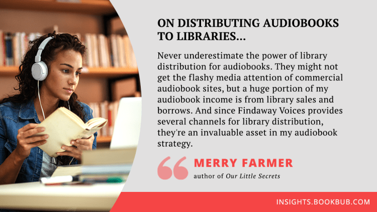 Audiobook publishing tip from Merry Farmer
