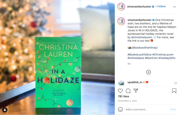 Publisher Holiday Bookstagram 2