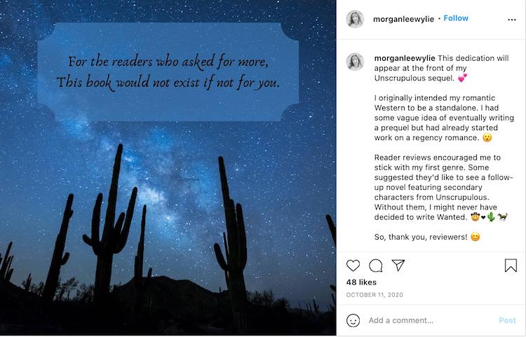 Book Dedication Instagram