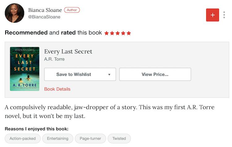 Recommend On BookBub 2