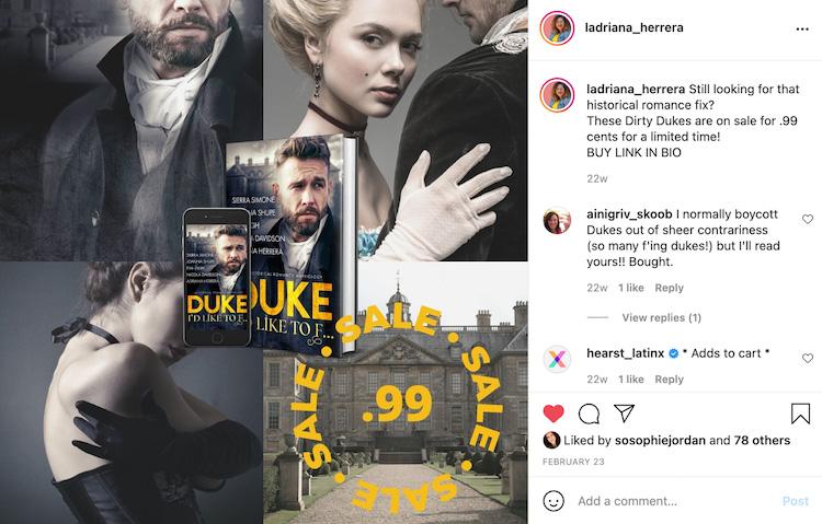 Adriana Author Deal Social Media Promotion