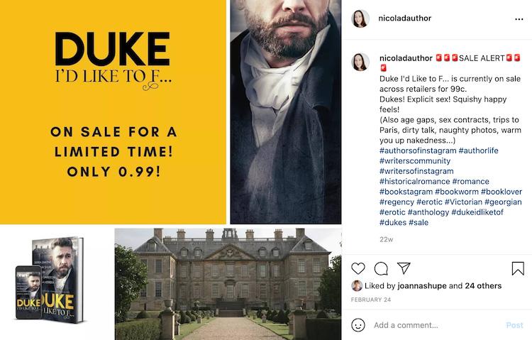 Nicola Author Deal Social Media Promotion