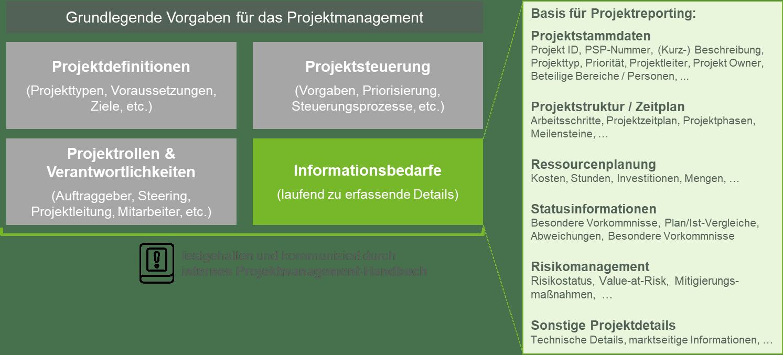 Abbildung 1: Grundlagen für die Ableitung eines Projektreporting