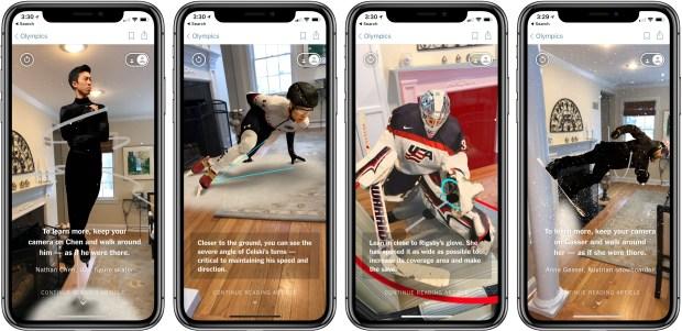 NY Times Tecnología Augmented Reality Olympics