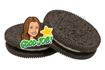 Good Job Bitmoji on an Oreo