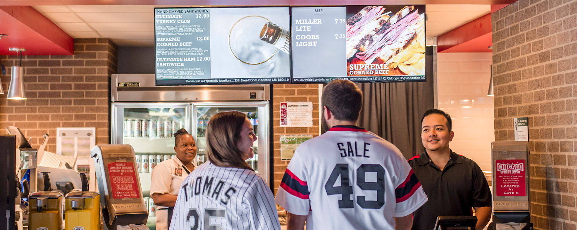 Digital signage menu boards are transforming sports concession stands.