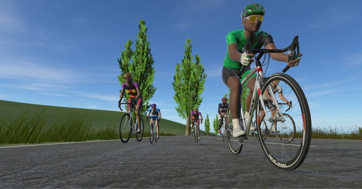 Virtual reality cyclists