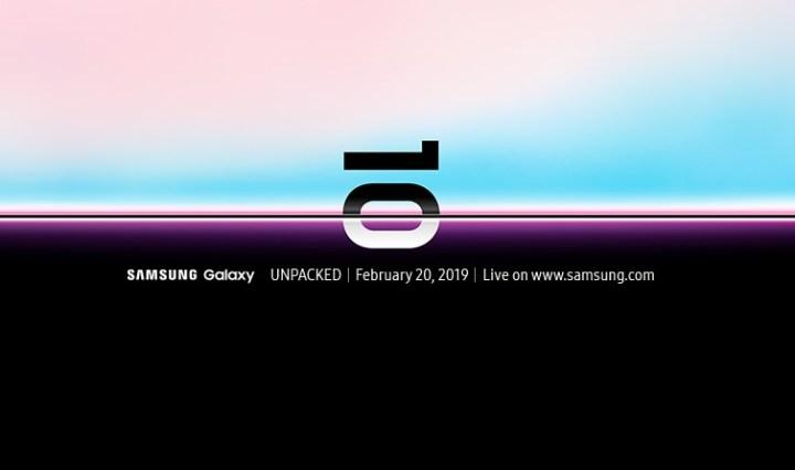 Galaxy Unpacked event invitation and livestream