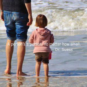 Child & parent at seshore