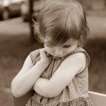 child averting gaze, shame