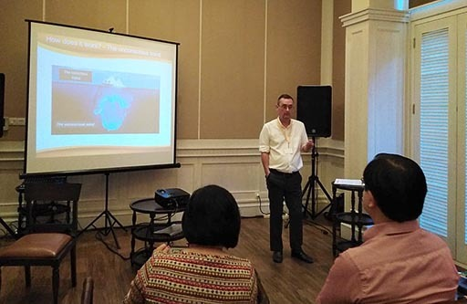 NLP training at the Maison Aurelia hotel in Sanur, Bali.