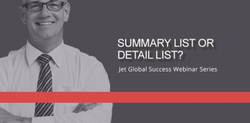 Jet Resource Success Webinar Summary List Or Detail List