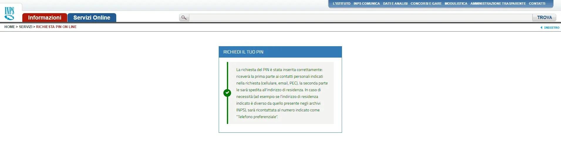 Come richiedere il pin inps online cos 39 ed a cosa serve for Inps on line accedi ai servizi