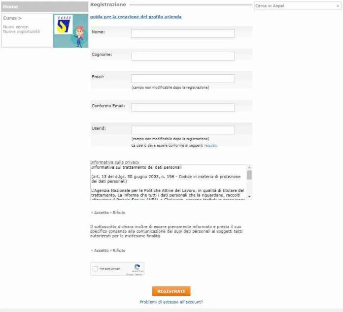 Registrazione cittadino Did online Anpal