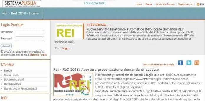 REI RED Regione Puglia 2019