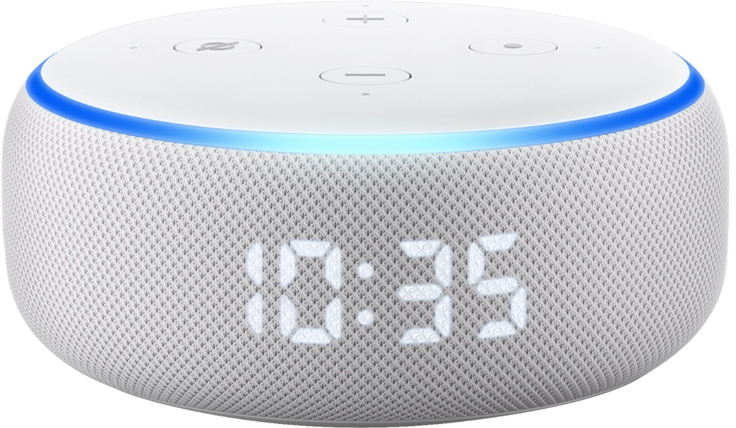 Plantão do Amazon Echo Dot with Clock (echo echo echo)