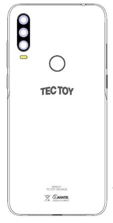 A bateria do TecToy ON 64 GB passa: logo da TCL, fabricada pela BYD (???)