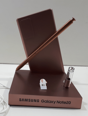 A unidade de display do Galaxy Note20