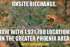 OnSite OilChange now servicing almost 2,000,000 locations in Phoenix.