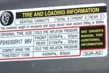 Correct tire PSI is NOT on the tire sidewall!
