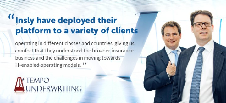 Customer Success Story: Tempo Underwriting launched an online Bond insurance trading platform based on Insly software