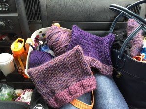 I knit pussyhats on road trips now.