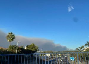 Smoke could be seen from Marbella - but no on here was evacuated