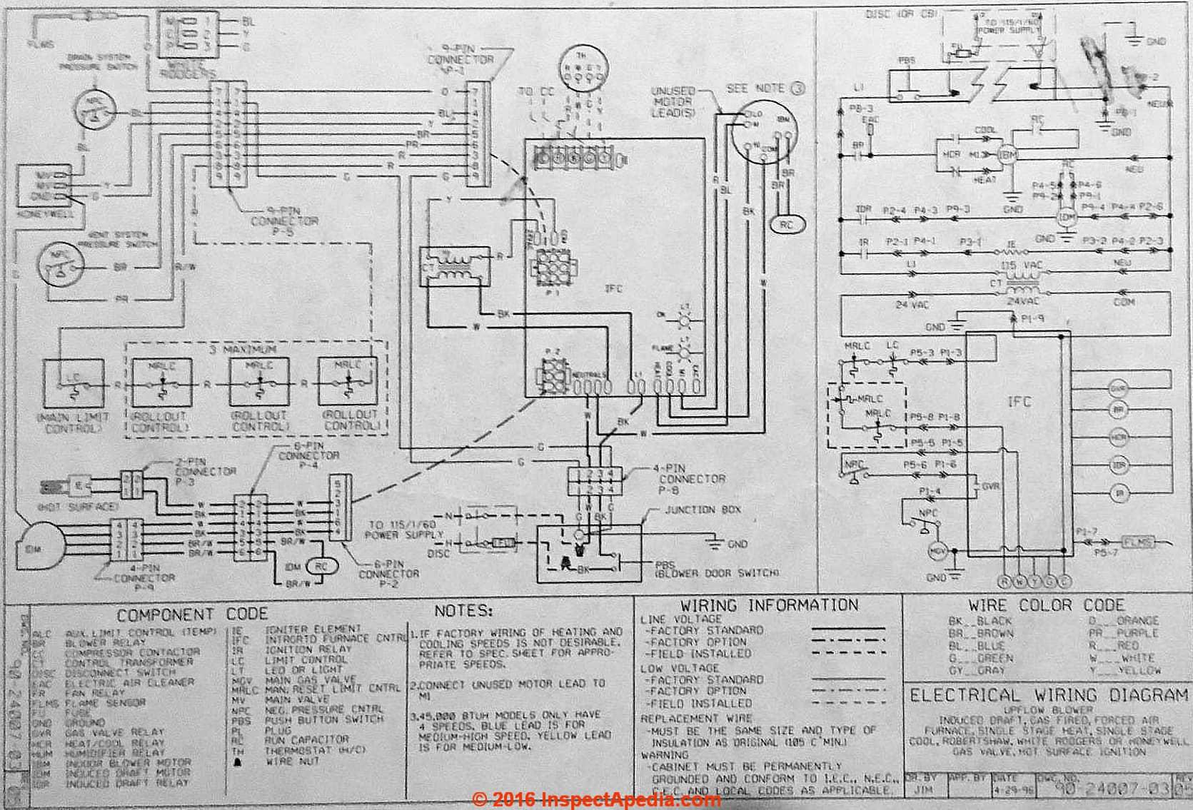 Rheem Furnace Wiring Diagram Heat Pump Electrical Wire Ruud Condenser Fan Motor Diagramrheem
