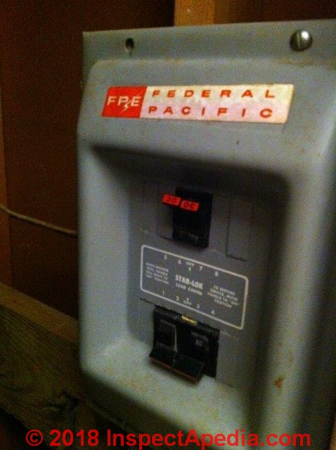 Identify Recognize Federal Pacific Electric FPE Stab Lok