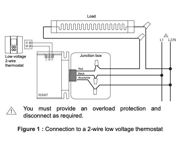 convert line voltage thermostat to low voltage nest
