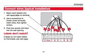How Wire a Honeywell Room Thermostat Honeywell Thermostat Wiring Connection Tables Hookup