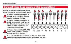 How Wire a Honeywell Room Thermostat Honeywell Thermostat Wiring Connection Tables Hookup