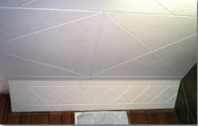 Fiberboard ceiling energywarden