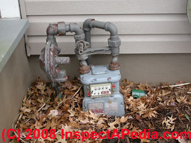 Gas Meter & Gas Pipe Clearance Distance Codes & Specifications