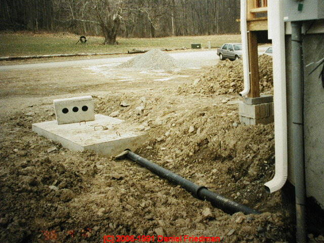 Photograph Of A Conventional Septic Tank During Installation Size Requirements