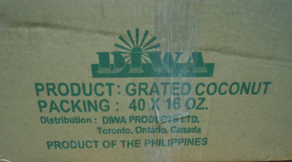 Diwa	Grated Coconut 40 x 16 ounce case