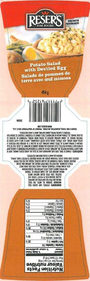 Reser's Fine Foods - Potato Salad with Deviled Egg - 454 gram