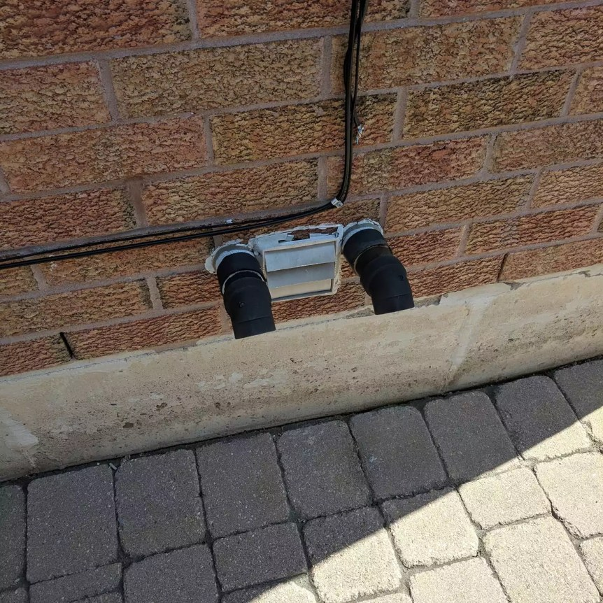 bathroom vent improperly installed