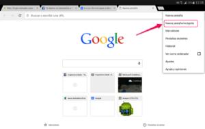 Chrome_modo incognito